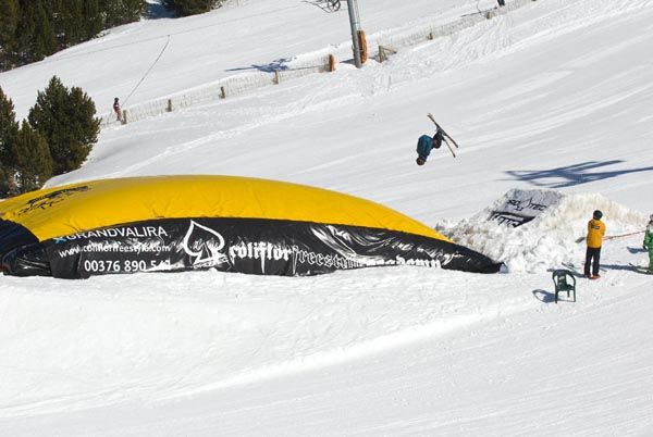 Abiertos las tres areas de freestyle de Grandvalira
