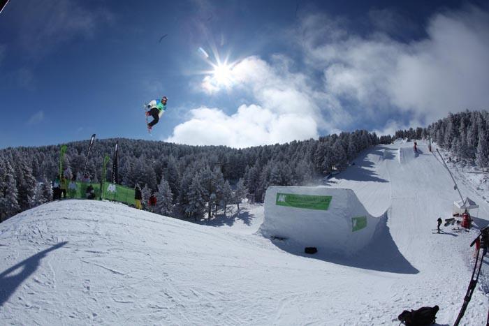 Slopestyle freeski y snowboard disputado en Valdelinares el pasado mes de enero