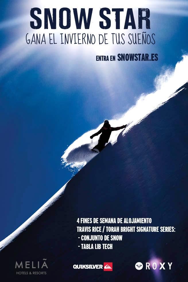 Hoteles Melià junto Quiksilver y Roxy lanzan SNOW STAR, el concurso donde podrás ganar una temporada de invierno de ensueño!