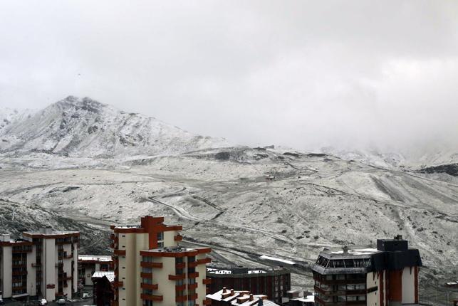 31 de Agosto y llegan las primeras nevadas