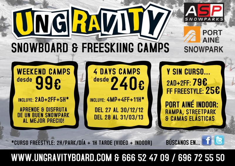 UNGRAVITY CAMPS LLEGA A PORT AINÉ