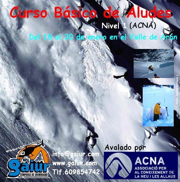Gaiur presenta por tercer año consecutivo su curso básico de aludes en el Valle de Arán.