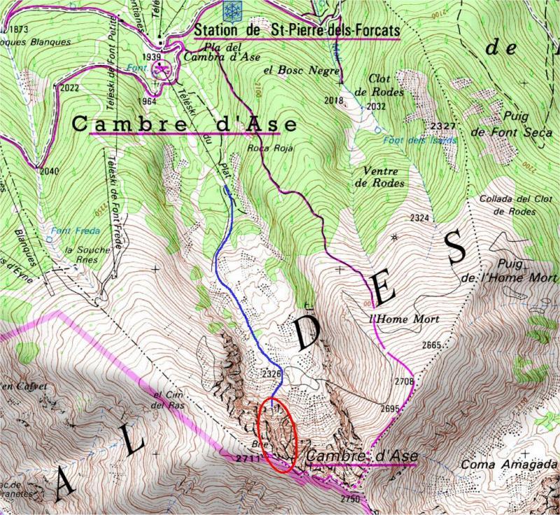 Mapa topografico de de detalle
