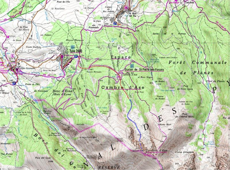 Mapa topografico de situación