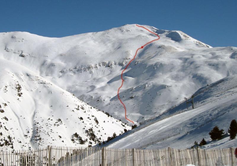 Cara norte del Puigmal, Mayo del 2010