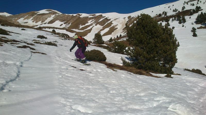 Poca nieve en la ladera este