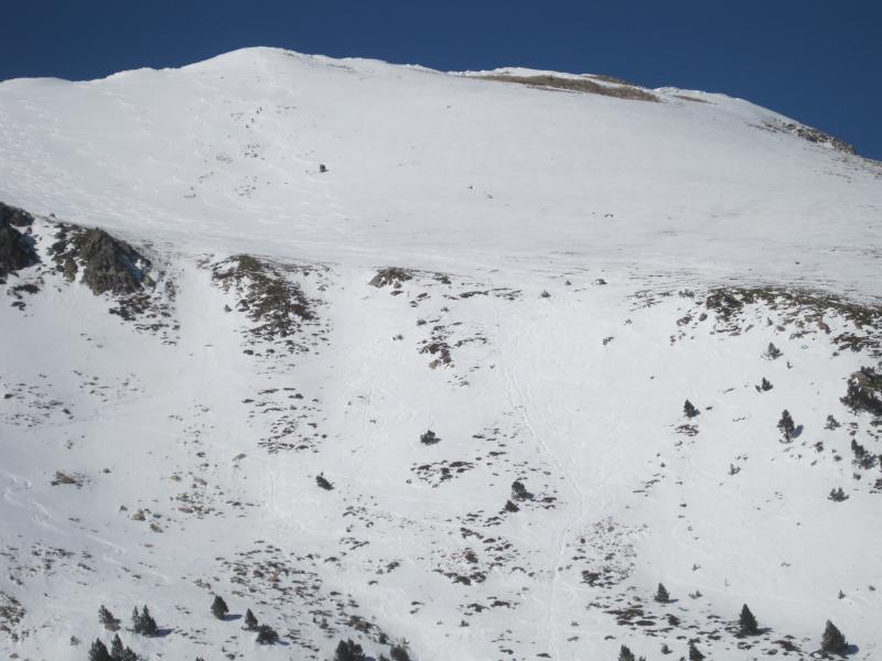 Salida con splitboard a la cara sur del Puig d'Ombriaga