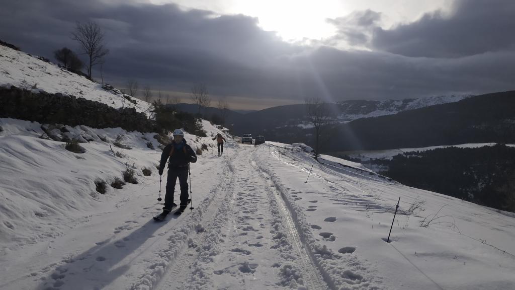 Salida por los alrededores del pueblo de Tregurá, el Pirineo Oriental, después de una gran tormenta de levante.
