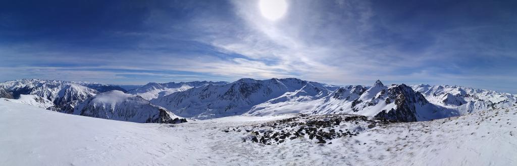 Panorámica desde la cima del Pic de l`Albe