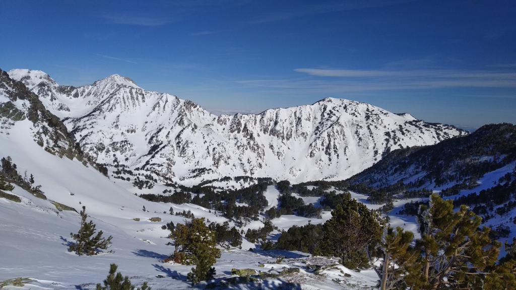 pocas nevadas al norte de la Cerdaña a finales de Enero del 2019