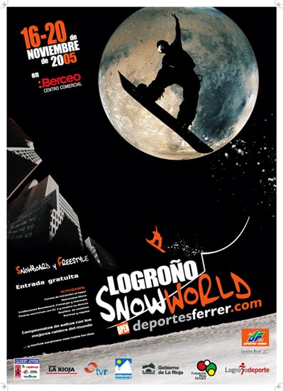 Del 16 al 20 de Noviembre rampa de nieve artificial para exhibiciones, test y muchas más actividades