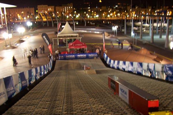Pista artificial de snowboard gratuita en Barcelona