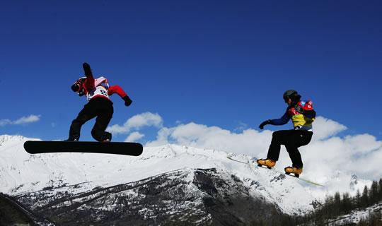Jordi Font 4º en snowboard cross