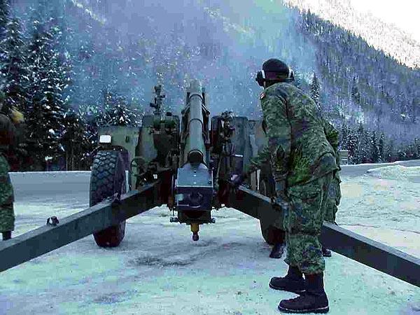 Controlando avalanchas con fuego de artillería