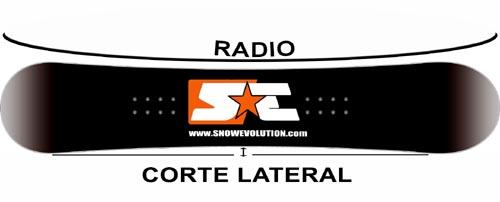 corte lateral y radio
