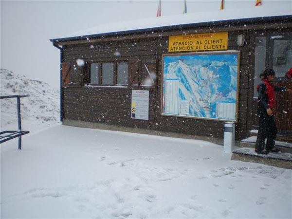 Nieva en Boí Taüll