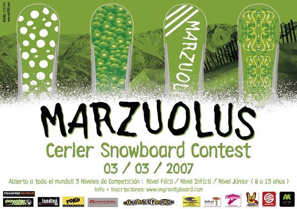 Marzuolus Cerler snowboard contest