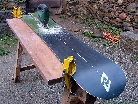 La construcción de una tabla tipo splitboard