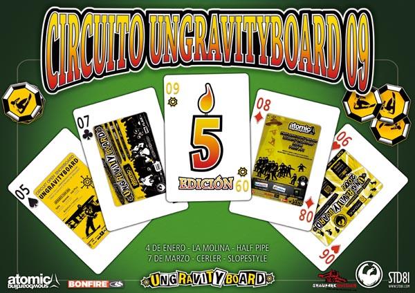5ª edición del circuito ungravityboard, información de calendario y eventos