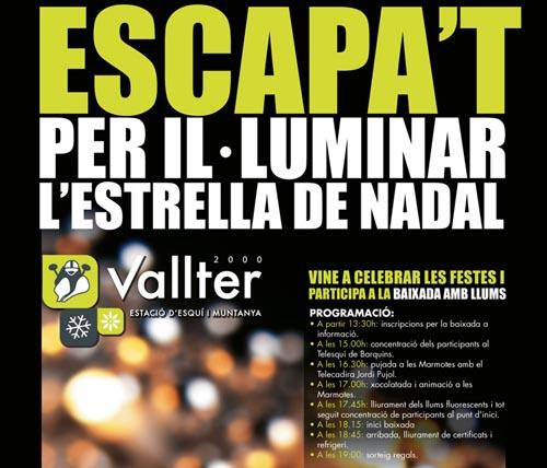 Bajada de luces en Vallter